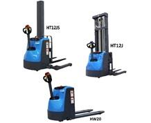 FULL ELECTRIC STRADDLE STACKER AND WALKIE PALLET TRUCKS