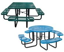 """EXPANDED METAL 46"""" ROUND & SQUARE TABLES"""